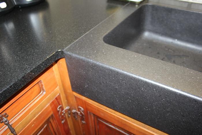 Cuisine Granit Noir Avec vier Massif   Pierre Granit Andr