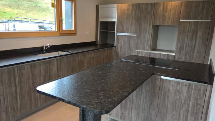 Plan De Travail En Granit Steel Gray Satin  Pierre Granit Andr