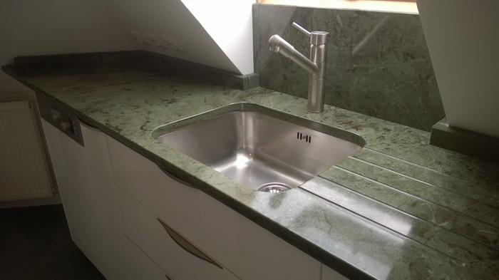 cuisine granit vert bambou - pierre², granit andré demange