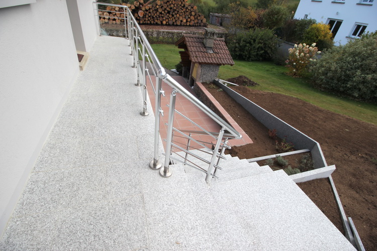 Escalier Et Dallage En Granit Du Tarn   Pierre Granit Andr