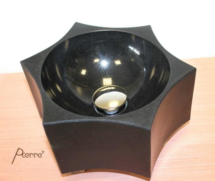 lave main étoile en granit noir 2016-09 - Pierre², Granit André DEMANGE