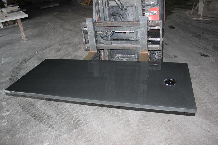 Bac à douche en granit noir letano - Pierre², Granit André DEMANGE