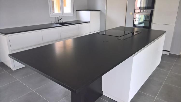 Superbe Plans De Travail Granit Noir 3